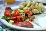 dish with ketchup